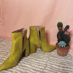 Lime Green Booties!